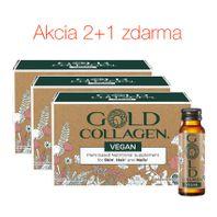 GOLD COLLAGEN VEGAN kolagénový výživový doplnok 2+1 zdarma 30ks