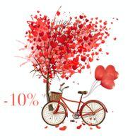 Akcia Valentínska zľava 10%